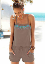 US Women Summer Sleeveless Shorts Rompers Party Beach Clubwear Bodysuit Jumpsuit