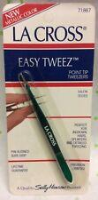 Sally Hansen La Cross Easy Tweeze Point Tip Tweezers 71867 Metallic color NEW
