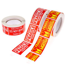250pcsroll Fragile Stickers Handle With Care Thank You Warning Labels