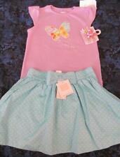 NWT 4t Gymboree Butterfly Blossoms Purple Shirt Hair Bow Janie Jack Summer Rose