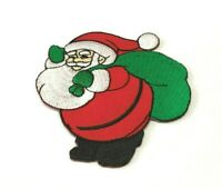 """Santa Claus is Coming to Town Patch 3"""" Christmas Decorations Suit Costume Badge"""