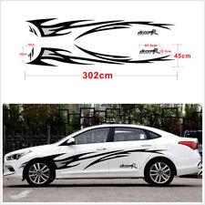 302cm Black+Grey DREAM-R Flame Graphics design Car body decor cover Decals