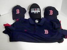 Boston Redsox Lot 4  Mlb  1 L Dry Fit Nike Shirt 3 Hats Caps Baseball