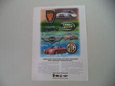 advertising Pubblicità 1991 LAND ROVER/MG F/MINI COOPER/ROVER