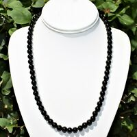 Custom Made Natural Gemstone 8mm Bead Necklace - Selenite Charged