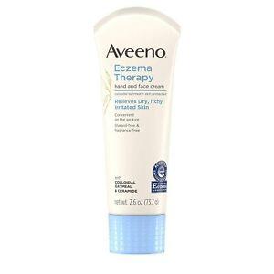 Aveeno ECZEMA THERAPY Hand & Face Cream 2.6 oz (73g) 05/2022