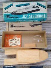 Wooden Jet Speedboat kit by Monogram Unassembled