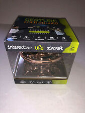 360 Interactive UFO Aircraft Flying Toy Gold Color Ages 5+ New in Box By Zomper