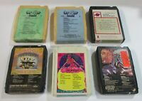Lot SIX (6) 8 Track Tapes From The 70's The Beatles - AS IS - UNTESTED
