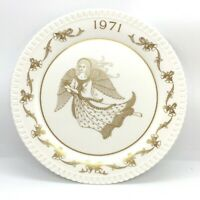 Spode 1971 Bone China Christmas Plate 2nd Xmas Angel Design Limited Production