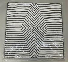 """Jonathan Adler 20""""x20"""" Silver and White Pillow Case"""
