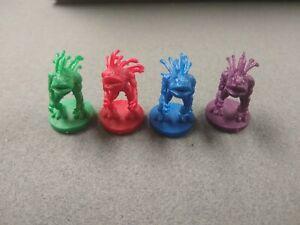 Lot 4 Murloc World Of Warcraft Miniatures Game no Card red blue green purple D&D