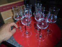6+1 Verres Liqueur Digestif Marc Cognac ... type Flute à aérer