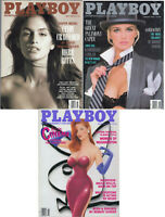 PLAYBOY 1988 Lot of 3-Cindy Crawford, Kimberly Conrad, Bruce Willis Interview