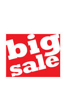 Count of 25 New Small Big Sale Sign Card 5½�H x 7�W