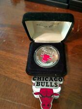 1996 NBA Champions Chicago Bulls 1 oz .999 Silver Medallion Coin Highland Mint