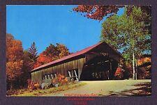 LMH Postcard  ALBANY COVERED BRIDGE  Swift River Conway  ALBANY NH  Single Span