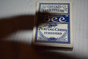 BEE No.92 CLUB SPECIAL Diamond Back Playing cards Standard Cambric Finish BLUE