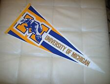 vintage  university of michigan full size pennant wolverines