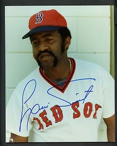 Luis Tiant Boston Red Sox Signed 8x10 Color Photo AUTO