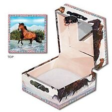Horses Running  in Water Mini Treasure Hinged Treasure  Box  by Enchantmints