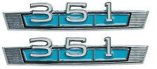 1969 Ford Fairlane 351 Fender Emblems Pair