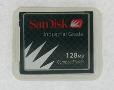 128MB 50pin CF CompactFlash Card Industrial Grade w/SN, SanDisk SDCFB-128-201-80