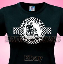 SKA Scooter Two Tone  LADIES T-Shirt 4 JAM Who WELLER Soul  & Specials Fans