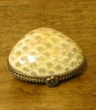 Oriental Trinket Box #S03097 Bone Box, Shell Shape, NEW from Retail Store MIB