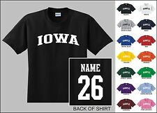State Of Iowa College Letter Custom Name & Number Personalized T-shirt