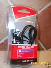Nib Motorola Stereo Headset K1m L7c Ve and V3 series