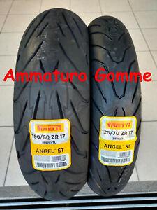 COPPIA 120/70 17  160/60 17 DOT/ANNO 2021!! +OMAGGIO PIRELLI ANGEL ST GOMME MOTO