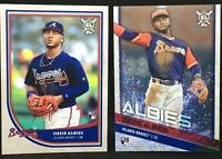 Lot (2) 2018 Topps Big League Ozzie Albies RC Players Weekend #48 + Base Braves