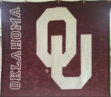 "Oklahoma University Biederlack Fleece Blanket Made in Usa 54"" x 47"""