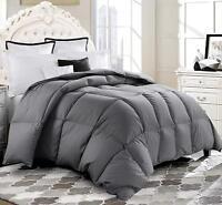 Deluxe 1200 TC Gray Down Alternative Comforter 100% Cotton, Down-like properties