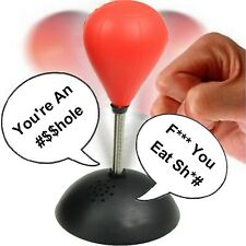 Swearing Punching Bag Ball Swear Rude Punch Adult Novelty Stress Relief Desktop