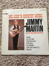"Bluegrass Legend ""The King"" Jimmy Martin Signed Promo Album"
