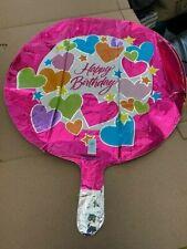 ValueLine Plus Hearts Happy Birthday Foil Balloon New!!