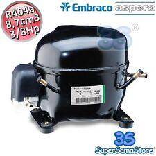 3S MOTORE Compressore FRIGO R404A R507 3/8 Hp 8,7 cm3 Embraco Aspera NEK6210GK