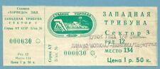 TICKET DINAMO  MOSCOU - BENFICA LISBOA  25/11/1992  C3