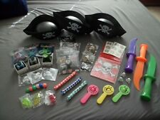 Pirate Costume Novelty Party Lot ~3 Kids~ Knife Hat Patch Toys Play Birthday Fun