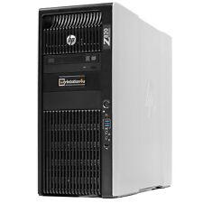 HP Z820 Workstation 2x Xeon e5-2660 128gb RAM Quadro K620 500GB SSD 2tb HDD W7