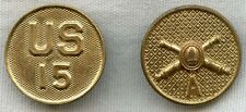 Pair of 1920's US Army 15th Coast Artillery, Battery A Collar Disc
