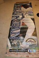 Colorado Rockies Game Use DEXTER Fowler BANNER FROM COORS FIELD RARE!!!!!