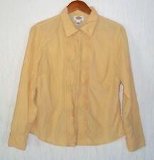 TALBOTS Petites yellow long sleeve top size petite large PL