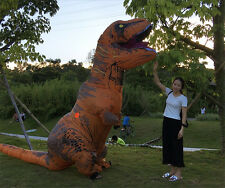 WOW ADULT T-REX INFLATABLE Costume Jurassic World Park Blowup Dinosaur Xmas gift