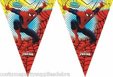 Spiderman Party Banner...Bunting...Licensed...Triangle Flag