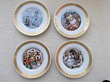 Set Of 4 Hans Christian Andersen Fairy Tale Plates