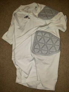 Adidas Aeroready Padded Shell Compression Shirt Football Adult Mens Small White