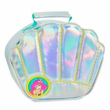 NWT DISNEY ARIEL IRIDESCENT SILVER SHELL SHAPED INSULATED LUNCH BOX NEW